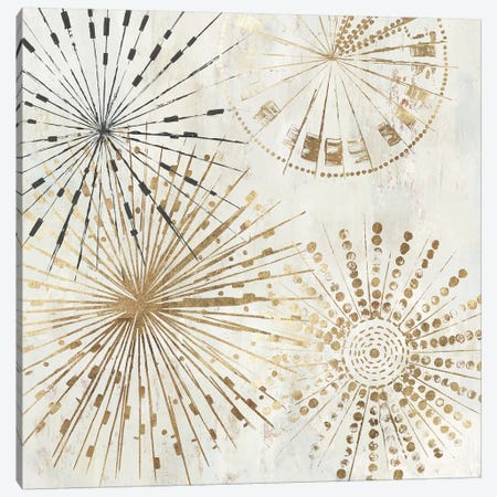 Golden Stars II  Canvas Print #TOR196} by Tom Reeves Canvas Art