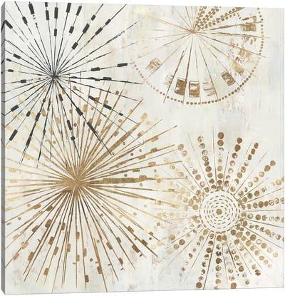 Golden Stars II  Canvas Art Print