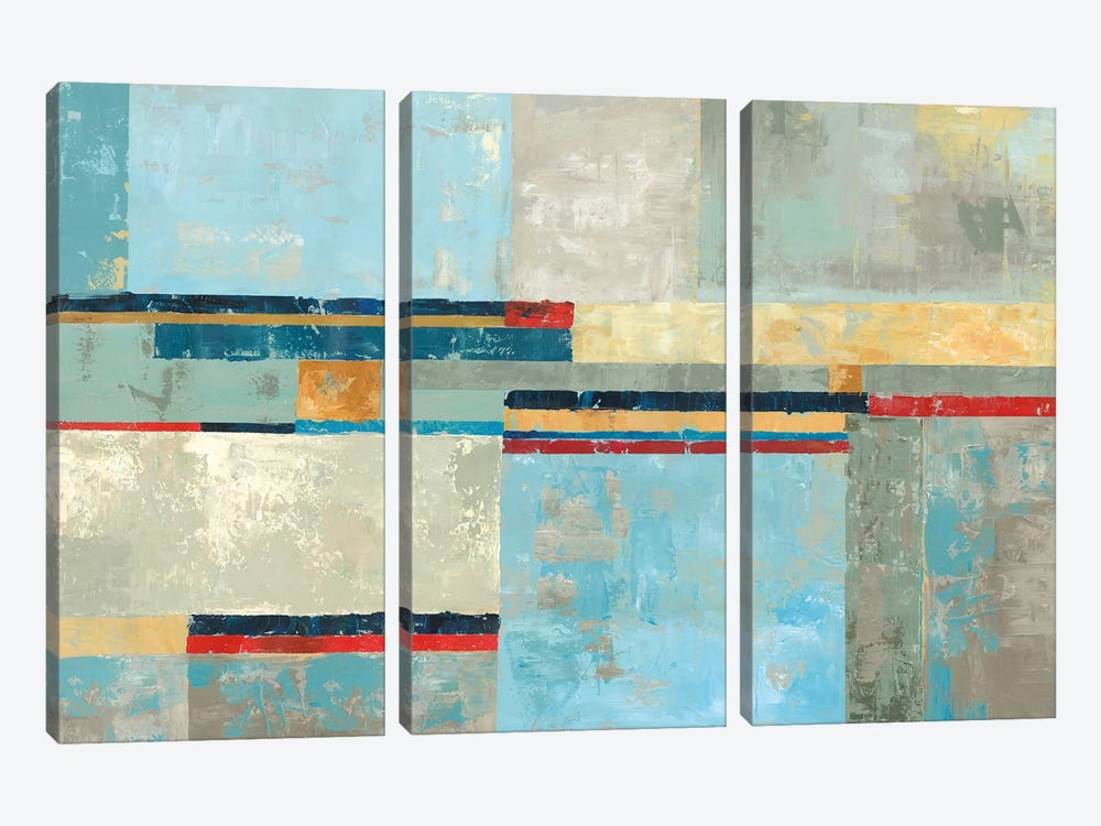 Barcelona by Tom Reeves 3-piece Canvas Artwork