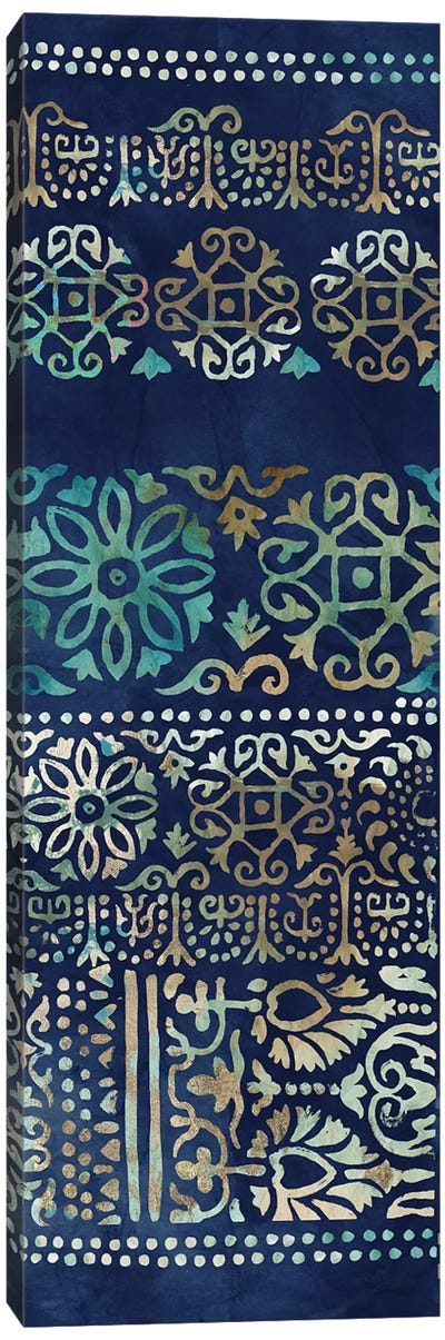 Indigo Damask I  Canvas Art Print