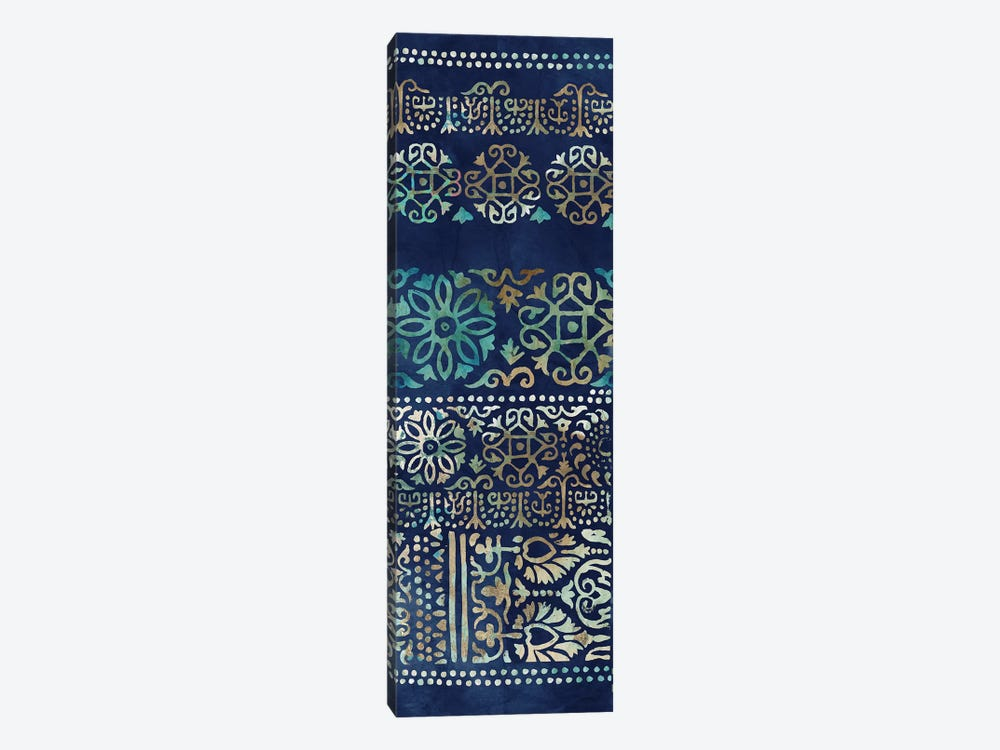 Indigo Damask I  by Tom Reeves 1-piece Canvas Art Print