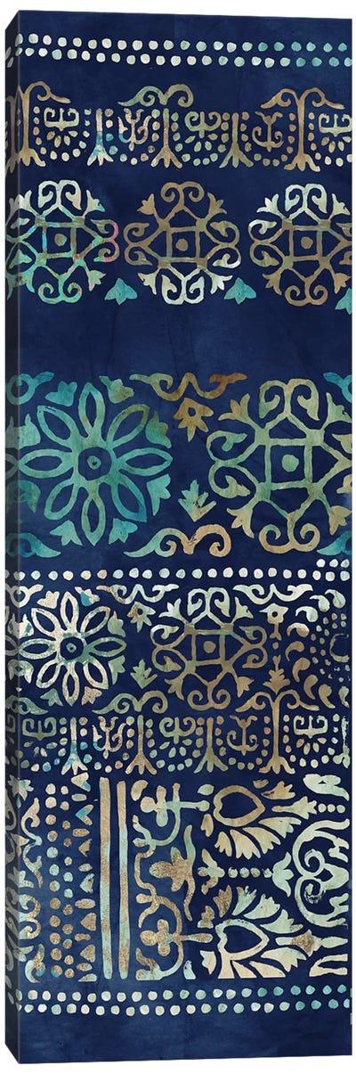Indigo Damask I  Canvas Art Print