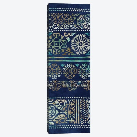 Indigo Damask II  Canvas Print #TOR224} by Tom Reeves Canvas Artwork