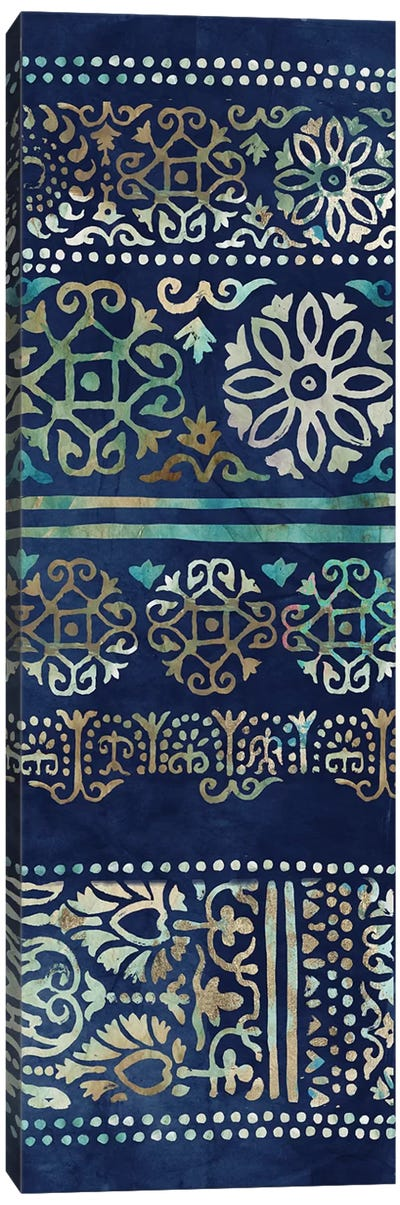 Indigo Damask II  Canvas Art Print