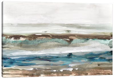 Waves Crashes  Canvas Art Print