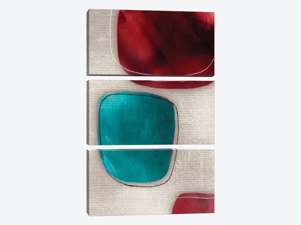Cherry Shades I by Tom Reeves 3-piece Canvas Artwork