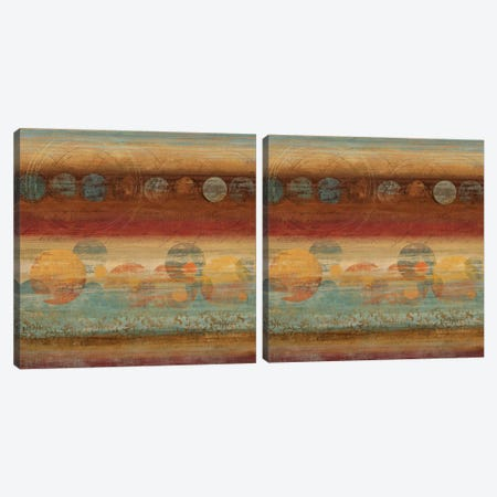 Pattern Play Diptych Canvas Print Set #TOR2HSET001} by Tom Reeves Canvas Wall Art