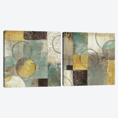 Peace Of Mind Diptych Canvas Print Set #TOR2HSET002} by Tom Reeves Canvas Wall Art