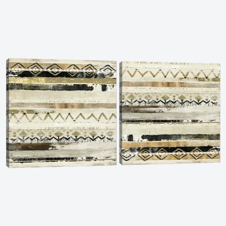 African Patchwork Diptych Canvas Print Set #TOR2HSET007} by Tom Reeves Canvas Art Print