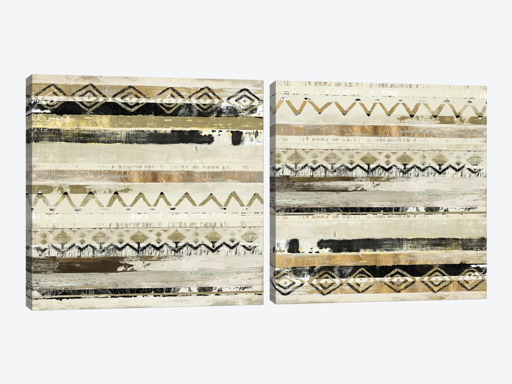 African Patchwork Diptych by Tom Reeves 2-piece Canvas Wall Art