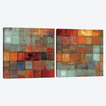 Etcetera Diptych Canvas Print Set #TOR2HSET009} by Tom Reeves Canvas Art