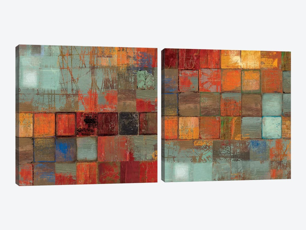 Etcetera Diptych by Tom Reeves 2-piece Canvas Wall Art