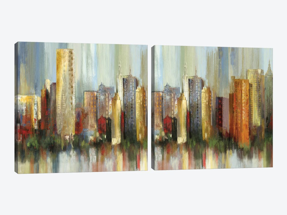Metropolis Diptych by Tom Reeves 2-piece Canvas Artwork