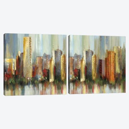 Metropolis Diptych Canvas Print Set #TOR2HSET010} by Tom Reeves Canvas Print