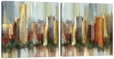 Metropolis Diptych Canvas Art Print