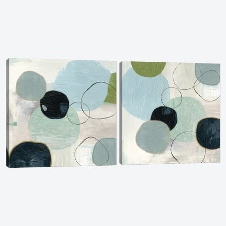 Soft Circle Diptych Canvas Print Set #TOR2HSET012} by Tom Reeves Art Print