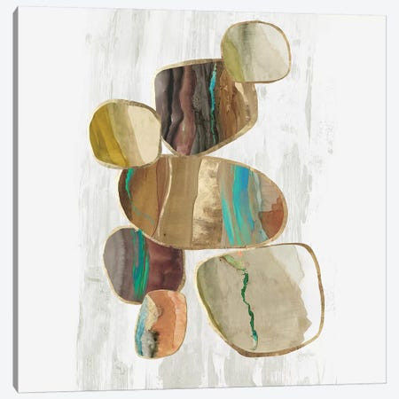 Glided Stones II  Canvas Print #TOR314} by Tom Reeves Canvas Artwork