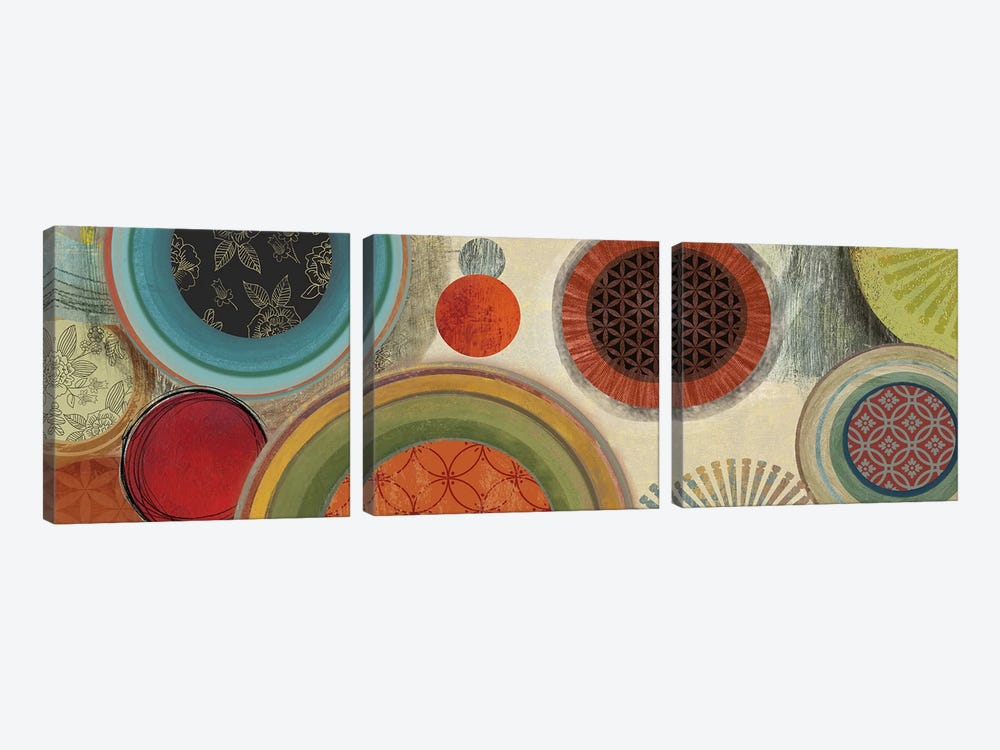 Commotion I by Tom Reeves 3-piece Canvas Wall Art