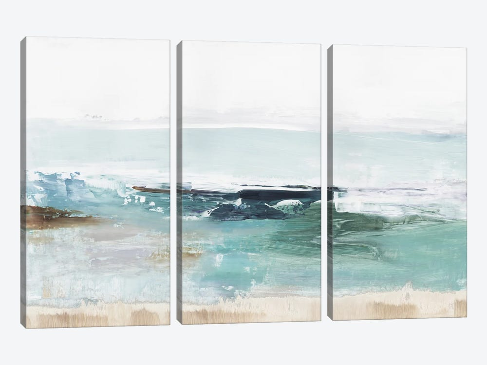 Emerald Waters by Tom Reeves 3-piece Canvas Art Print