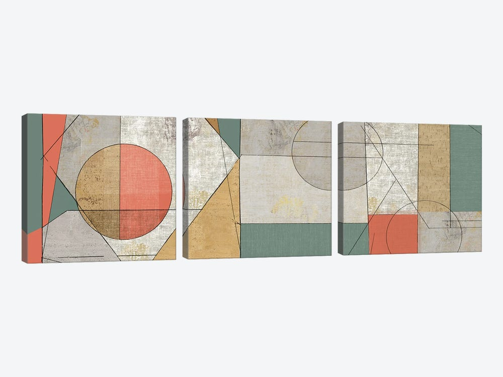 Geometry of Life by Tom Reeves 3-piece Canvas Print