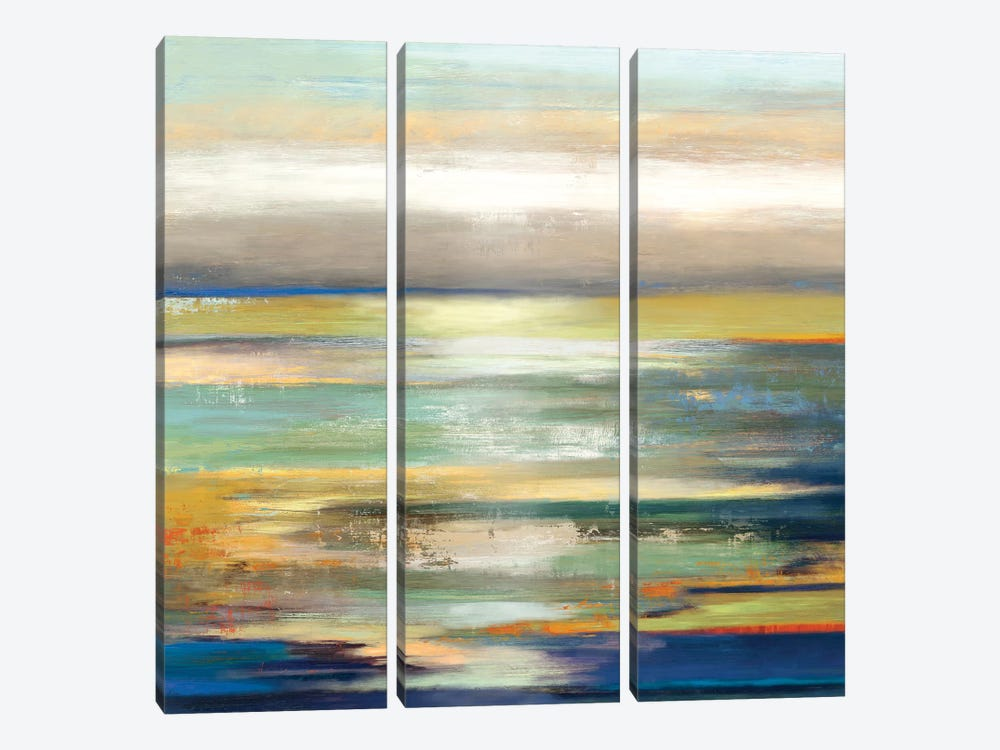 Evening Tide I by Tom Reeves 3-piece Canvas Wall Art