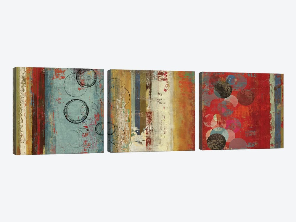 Field Of Blue Abstract by Tom Reeves 3-piece Canvas Art