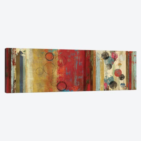 Field Of Red Abstract Canvas Print #TOR50} by Tom Reeves Canvas Art