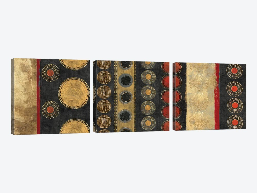 Gold Klimt by Tom Reeves 3-piece Canvas Art Print