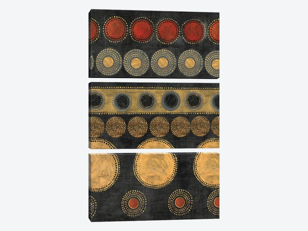 Gold Rings by Tom Reeves 3-piece Canvas Art