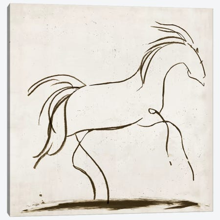 Horse II Canvas Print #TOR58} by Tom Reeves Canvas Artwork