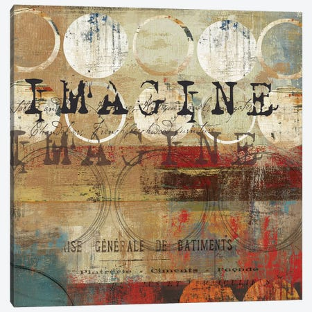 Imagine Canvas Print #TOR59} by Tom Reeves Canvas Wall Art