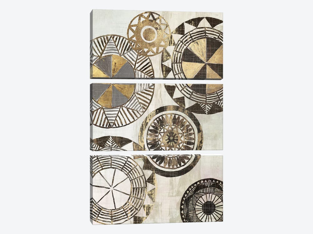 African Rings I by Tom Reeves 3-piece Canvas Wall Art