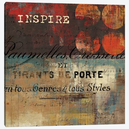 Inspire Canvas Print #TOR63} by Tom Reeves Art Print
