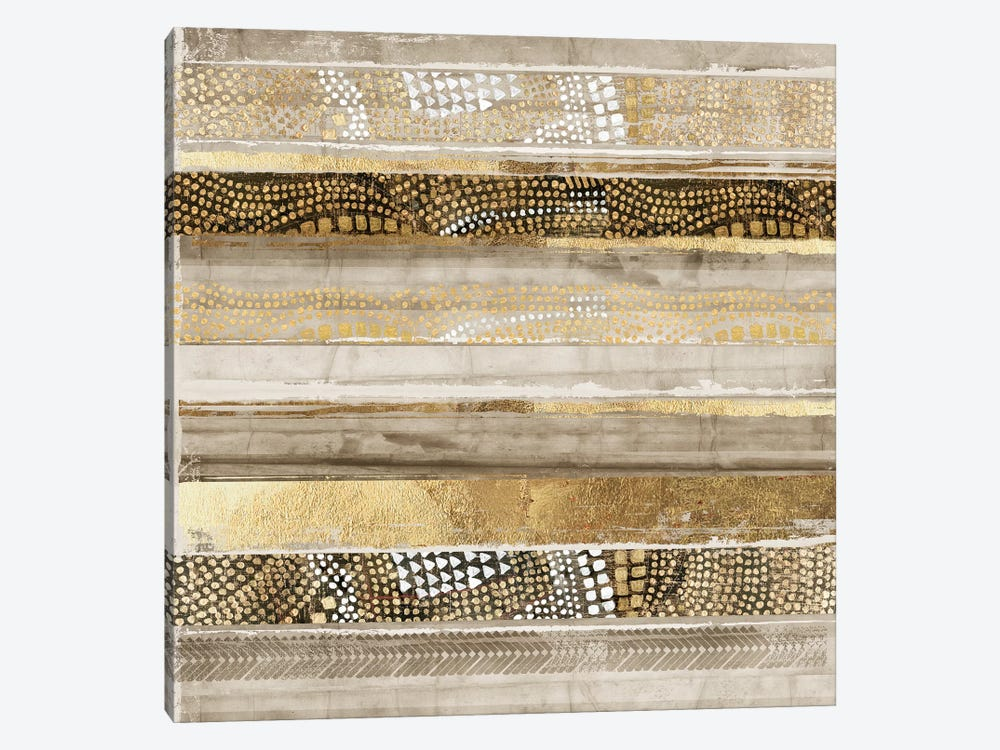 Klimt Stripes by Tom Reeves 1-piece Canvas Art
