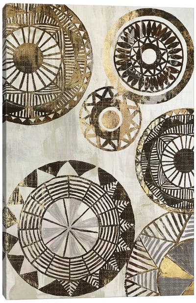 African Rings II Canvas Art Print