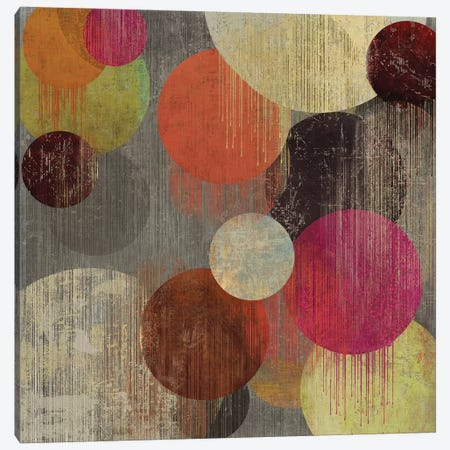Magenta Bubbles II Canvas Print #TOR79} by Tom Reeves Canvas Wall Art