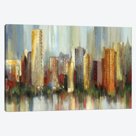 Metropolis Canvas Print #TOR80} by Tom Reeves Canvas Print