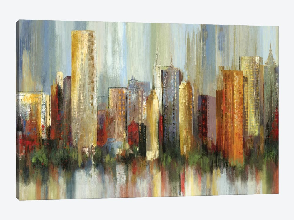 Metropolis by Tom Reeves 1-piece Canvas Art Print
