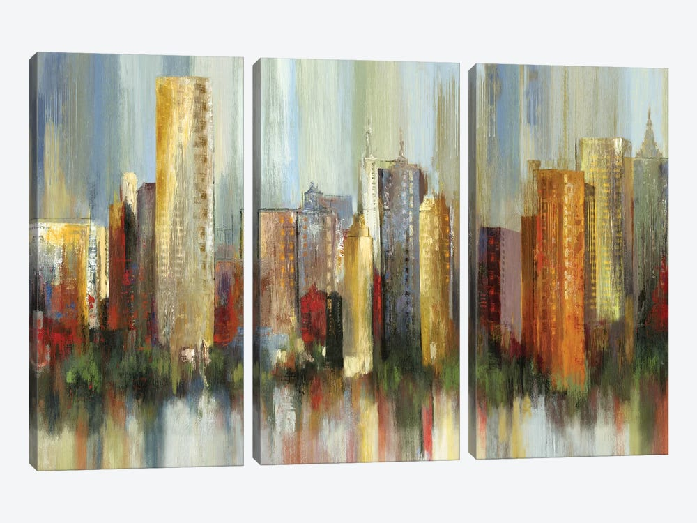 Metropolis by Tom Reeves 3-piece Canvas Art Print