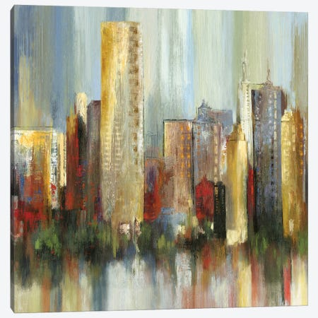 Metropolis I, Square Canvas Print #TOR81} by Tom Reeves Art Print