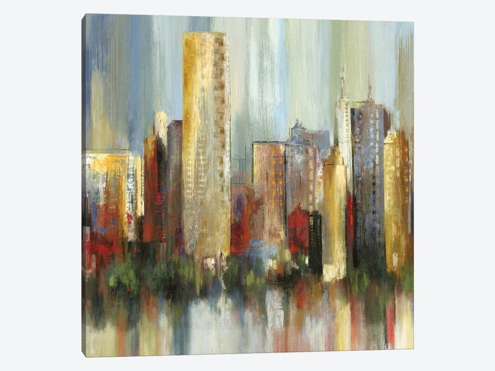 Metropolis I, Square by Tom Reeves 1-piece Canvas Wall Art