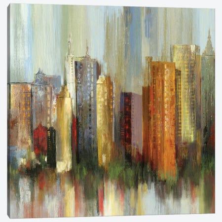 Metropolis II, Square Canvas Print #TOR82} by Tom Reeves Canvas Print