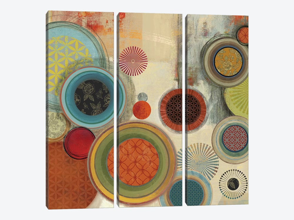 Motions I by Tom Reeves 3-piece Canvas Art