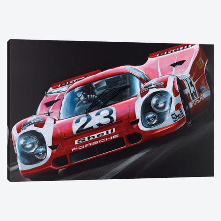 Porsche 917 Canvas Print #TOS3} by Todd Strothers Canvas Wall Art