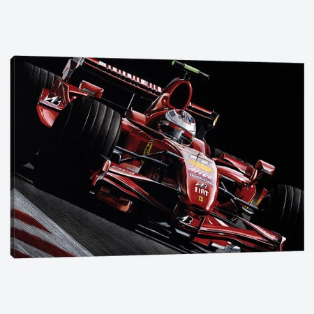Räikkönen Canvas Print #TOS4} by Todd Strothers Canvas Art Print