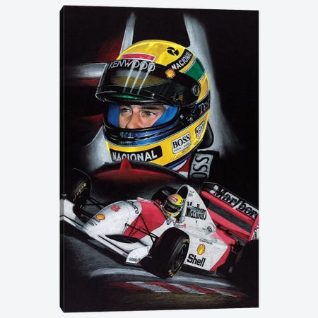 Senna Canvas Print #TOS7} by Todd Strothers Canvas Art Print