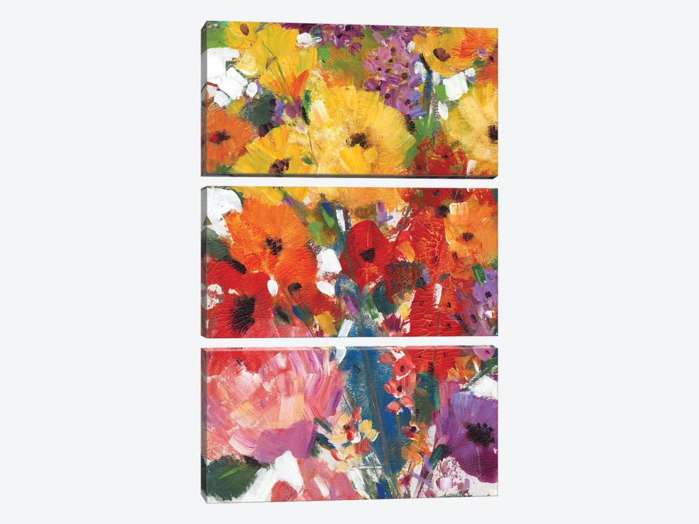 Fresh Floral II by Tim OToole 3-piece Canvas Art Print