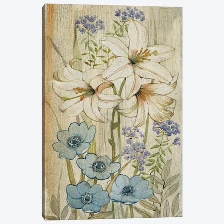 Lily Chinoiserie I 3-Piece Canvas #TOT106} by Tim OToole Canvas Print