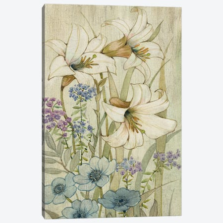 Lily Chinoiserie II Canvas Print #TOT107} by Tim OToole Canvas Art Print