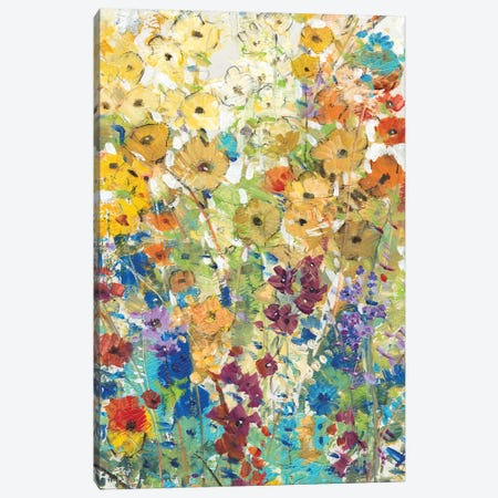 Meadow Floral I Canvas Print #TOT108} by Tim OToole Canvas Art